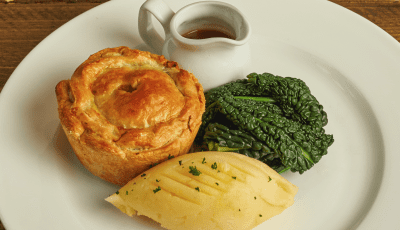 Pie & pint at The Crown
